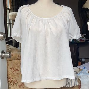 Made well Texture & Thread white peasant top